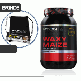 Waxy Maize (1,4kg) + Sacola TNT + Whey Bar Low Carb (40g)