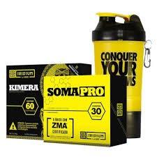 Kimera (60 cápsulas) + Soma Pro ZMA (60 Cápsulas) + Coqueteleira Conquer Amarela