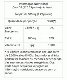 Cálcio + Vitamina D3 - 450mg (120 caps)