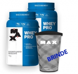 Whey Pro + Brinde Copo Max Titanium